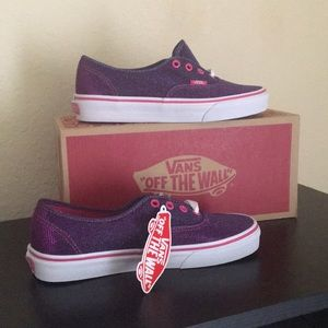 Vans shimmer magenta purple pink sparkle shoes